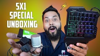 TRAKINTECH STYLE SPECIAL UNBOXING AND GIVEAWAY (5 In 1) ⚡ ⚡ ⚡ Paanch Ka Punch!