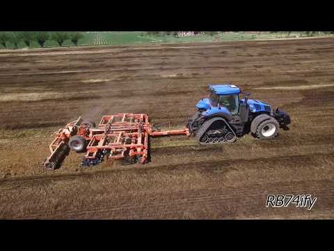PREPARING SOIL - NEW HOLLAND T8.435 SmartTrax & CMA CULTI-EASY 600 TOP