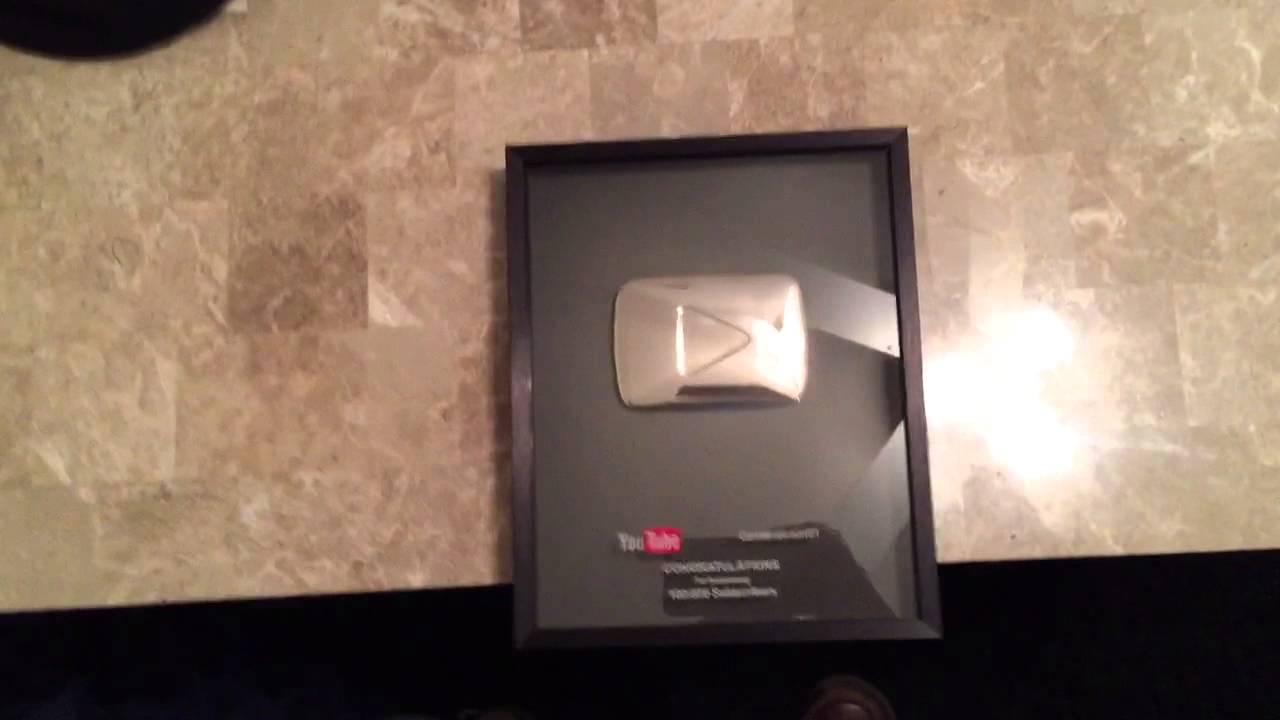 100,000 Subscribers YouTube Award!!