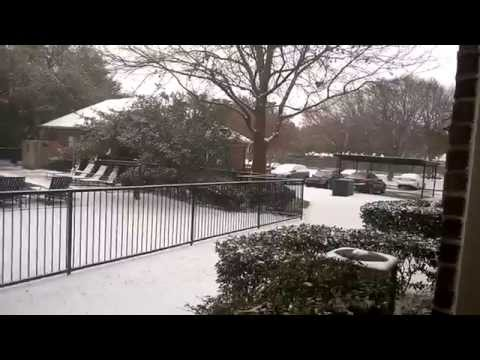 Snow Fall in Plano, Texas, USA