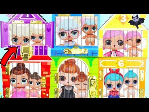 Lol Surprise Dolls Find Lil Sisters Doll House Poznavatelnye I