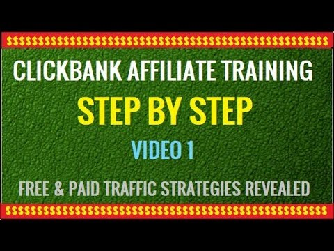 Clickbank Affiliate Marketing Training Video 1