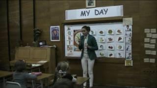 """Відкритий урок з англійської мови у 2 класі """"Мій день. My Day"""". Вчитель - Диган Х.В."""