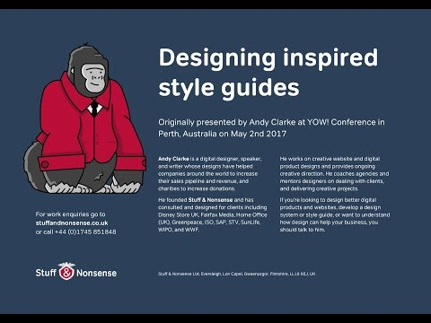 Designing inspired style guides