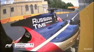 FIA F2 Azerbaidjan 2017 Qualifying Ghiotto Crashes