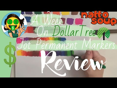 🤑Dollar Tree Review🤑 Jot Permanent Markers