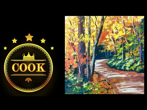 The Autumn Trail - A Cookie Crumbs Lesson with Ginger Cook using Acrylic Paints for Beginners