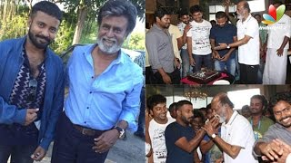 Attakathi Dinesh celebrates his birthday with Rajini
