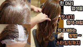 [청담헤어] *중년여성 흰머리 염색도 멋내기처럼 젊어보…