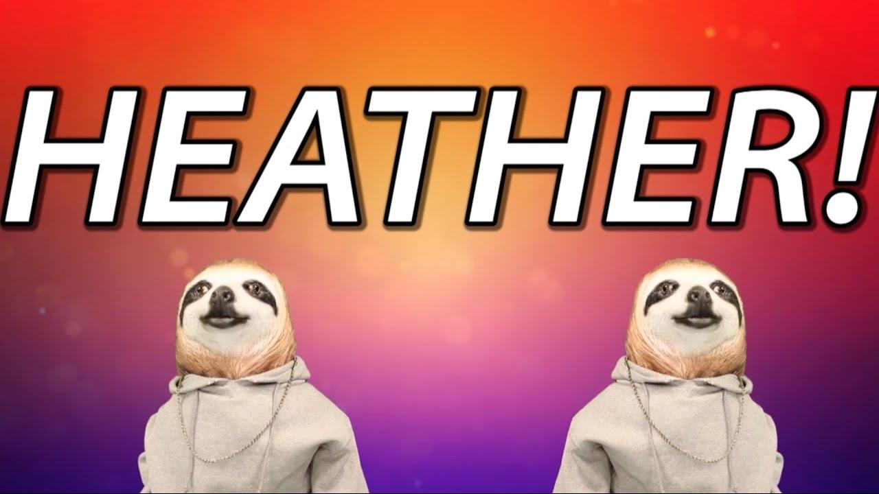 maxresdefault happy birthday heather! sloth happy birthday rap youtube