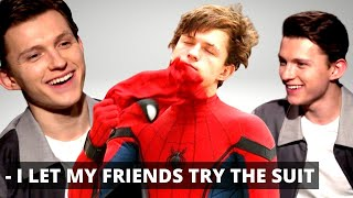 'AVENGERS' Tom Holland Lets His Friends Try On The Spider-Man suit (+ Cumberbatch Infinity War)
