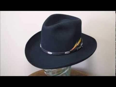 Stetson 4X Beaver Black Fur Felt Western Cowboy Hat - YouTube ce100a95cbd