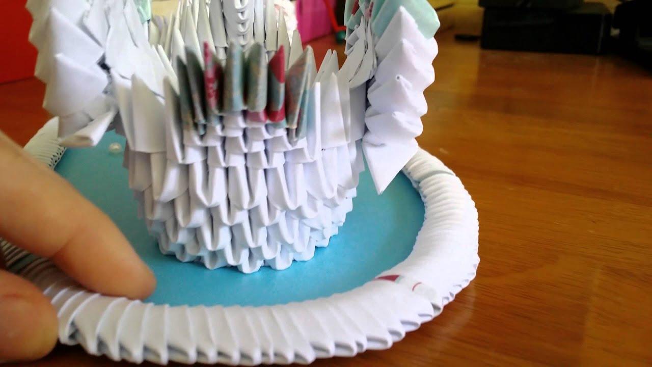 Jewellia Handicrafts 3d Origami Wedding Swans Swan Diagram Http Jewellia7777blogspotcom 2013 01 Gift Lake Youtube