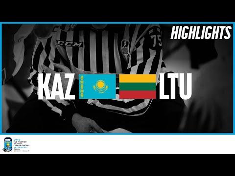 Kazakhstan vs. Lithuania | Highlights | 2019 IIHF Ice Hockey World Championship Division I Group A