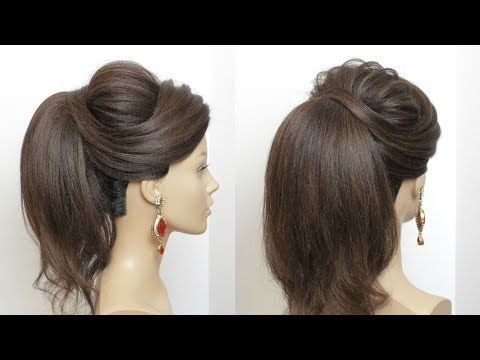 New High Ponytail Hairstyle With Puff For Long Hair