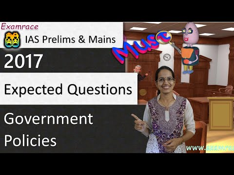 Expected Questions on Government Policies: UPSC IAS Prelims & Mains 2017