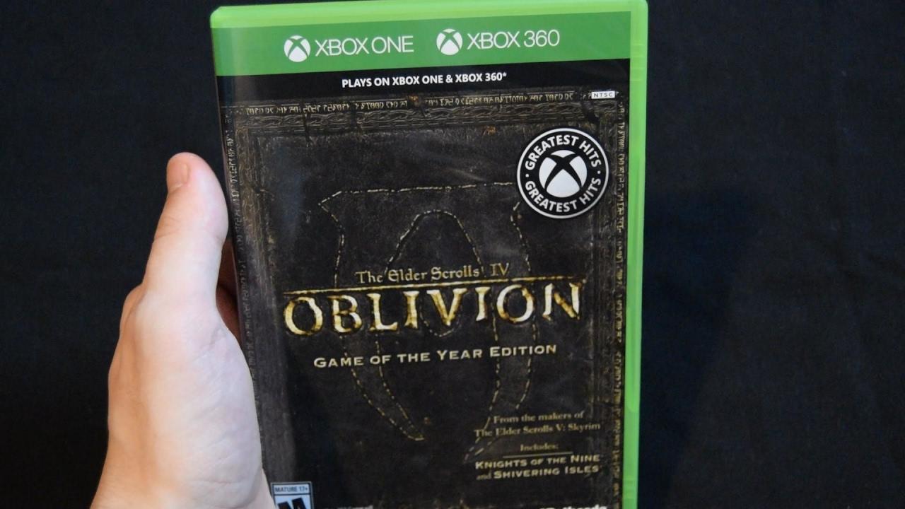 Elder scrolls iv oblivion game of the year edition (xbox 360.