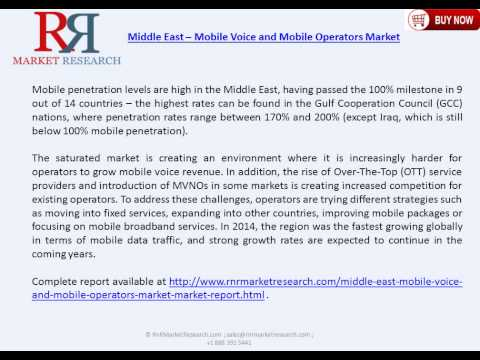 Middle East Mobile Market Analysis with Various Technologies