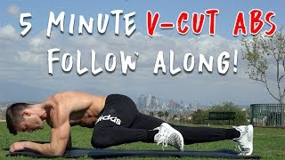 V Shred | 5 Minute V-Cut Abs Workout at Home