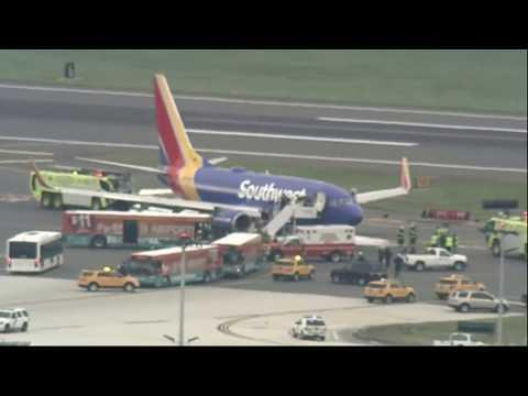 Southwest Plane Emergency Landing at Philadelphia International Airport