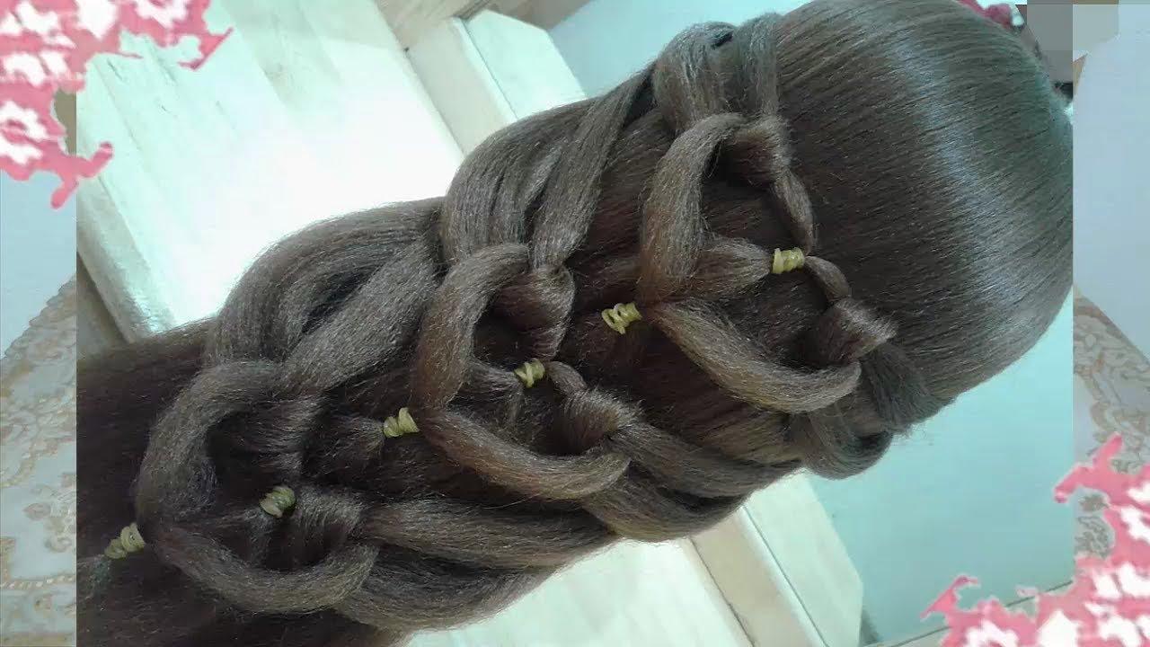 Peinado Con Trenza Y Ligas Peinados Faciles Y Bonitos Para Nina