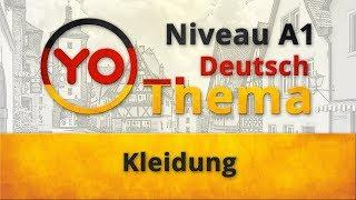 """Thema 13 """"Kleidung"""". Deutsch für Anfänger. Deutsch mit Oxana Wasiljewa"""