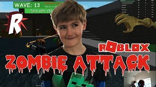 "ROBLOX - Zombie Attack - Spinning Tyg and ""this is so easy"""