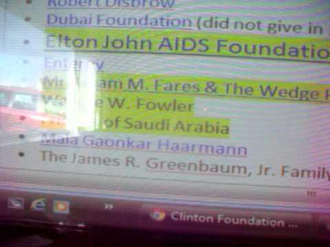 Clinton 2 The Foundation Elton HIV giustra global Princess Di HRH bloodline