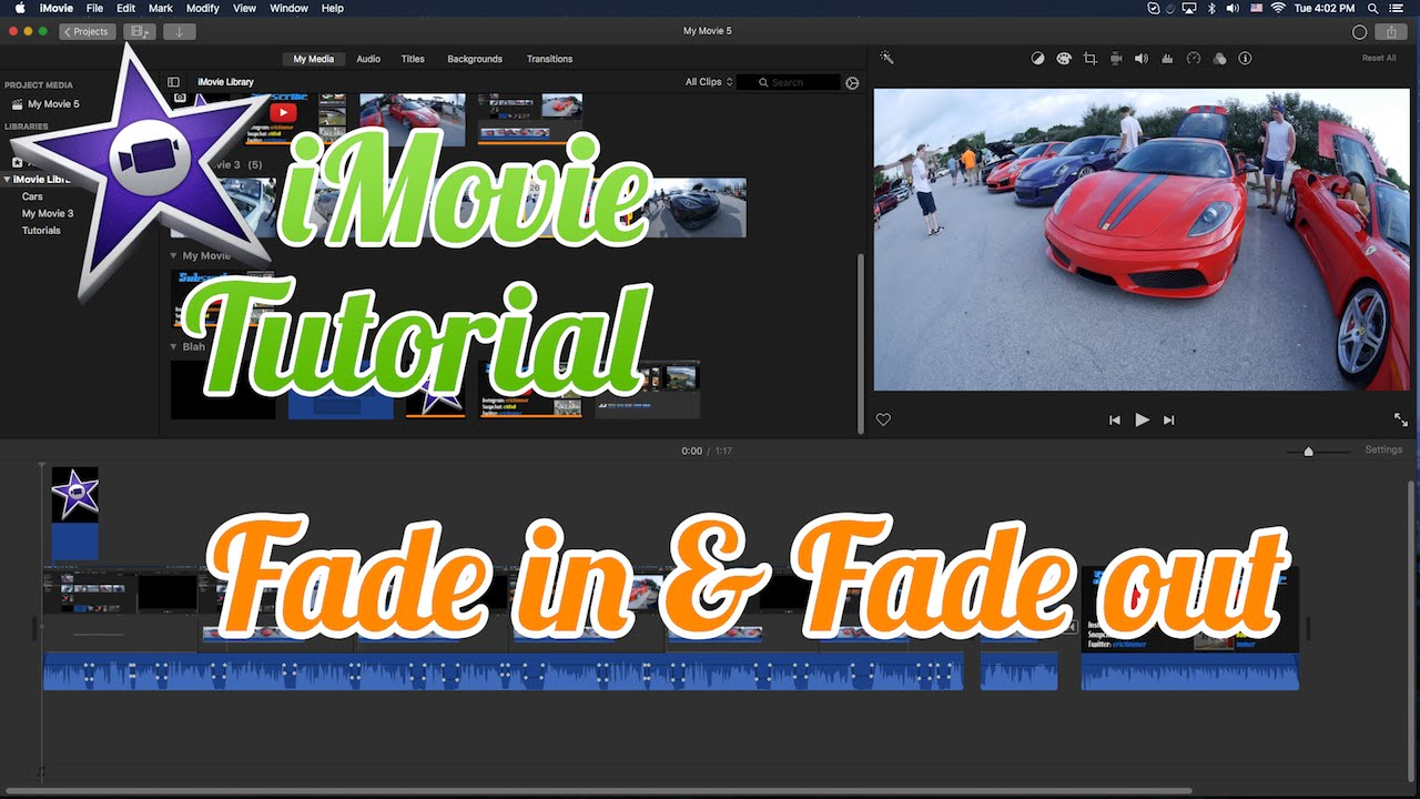how to fade out a song in imovie