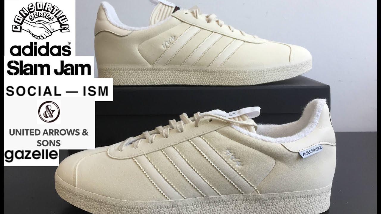 brand new 94b3e 8edf9 Adidas Consortium UA  Sons x SLAM JAM SOCIALISM x GAZELLE Review