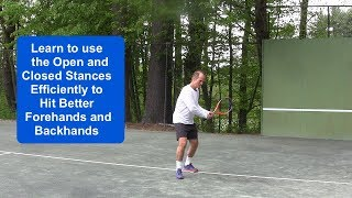 Tennis Instruction:  The Ideal Stances on your Groundstrokes –Open - Closed?