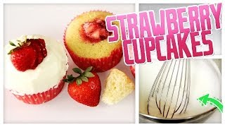 Strawberry-filled Cupcakes - Do It, Gurl
