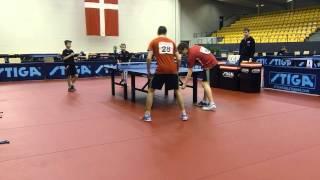 150228 DM 2015, Mikkel Emborg/Daniel Simonsen - Thomas Sørensen/Benjamin Sørensen