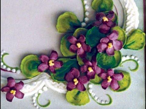 Cake Decorating Making Violets