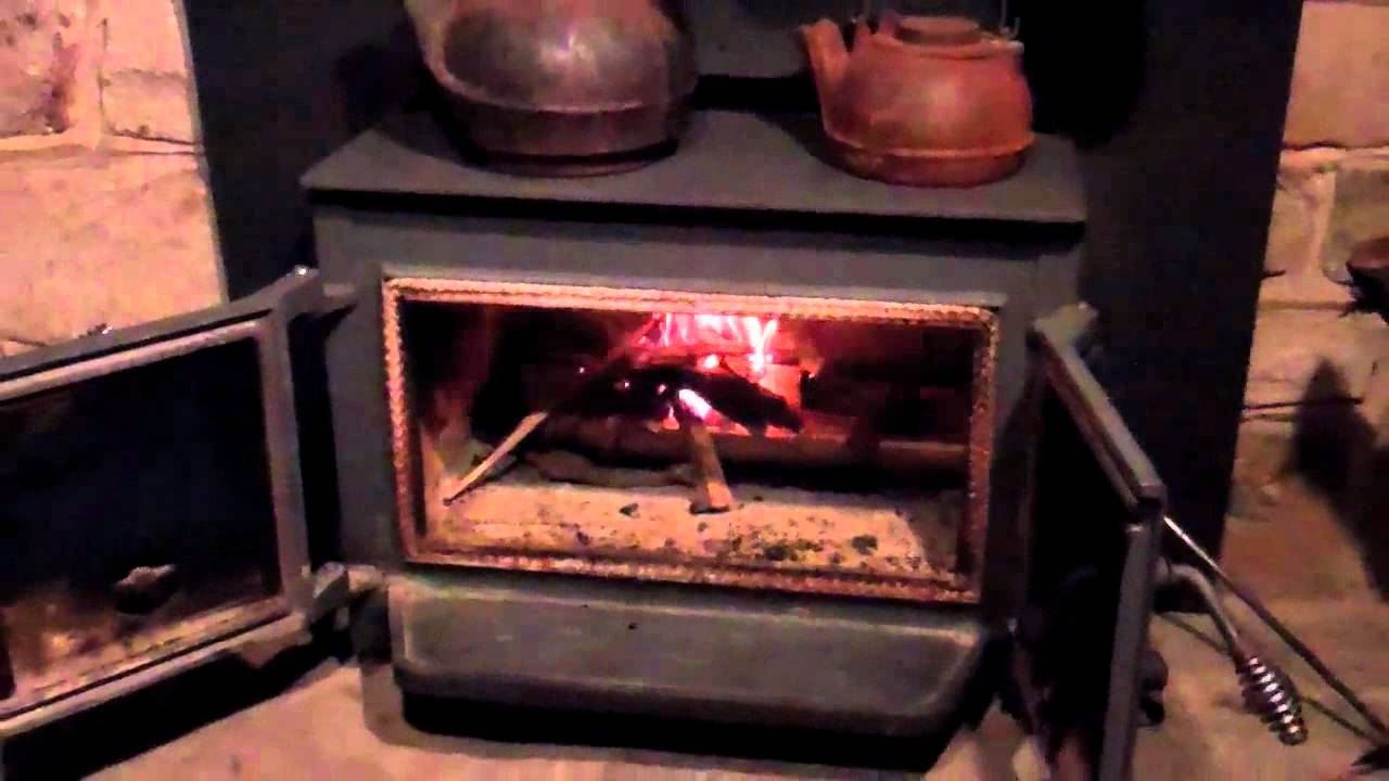 Our Wood Stove Christmas Decorating