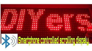 How to make scrolling display using LED P10 board| control DMD using Bluetooth