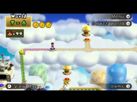 New Super Mario Bros Wii How To Get To World 7 6 Youtube