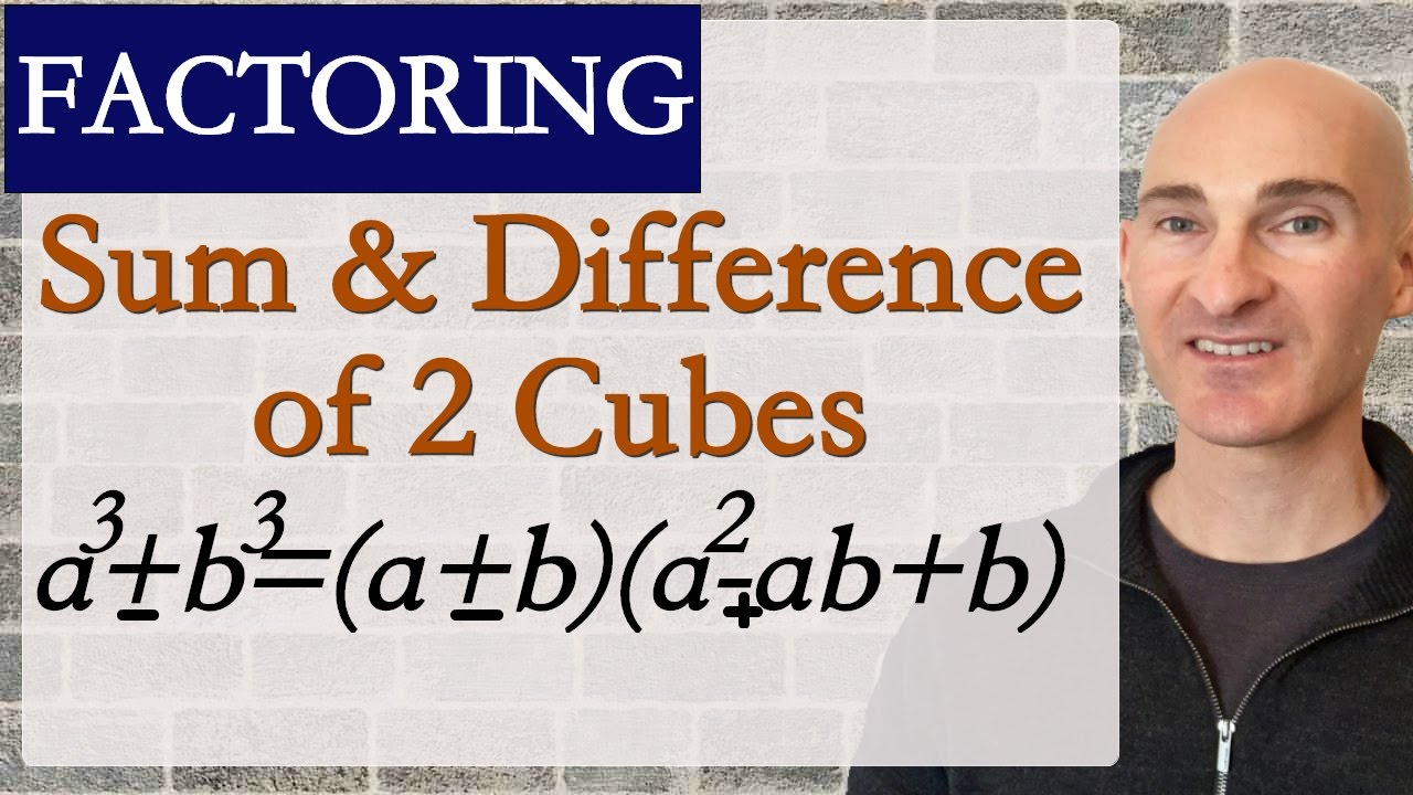 How To Factor The Sum Of 2 Cubes