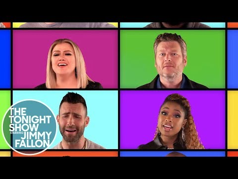 Angie Ward - Fantastic Fallon Mashup With Blake And The Rest Of The Voice Stars!