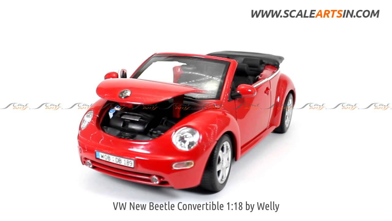 Vw New Beetle Convertible 1 18 Welly Diecast Scale Model
