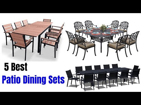 5 Best Patio Dining Sets 2019