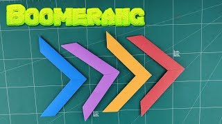 Origami Boomerang Paper Toys | How To Make Easy Boomerang Tutorial | DIY Boomerang Folding Paper