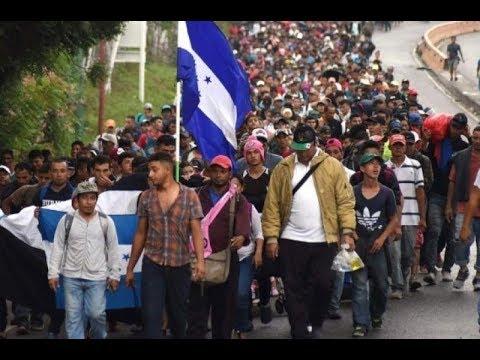Nueva caravana de migrantes de hondureños se dirige a Guatemala
