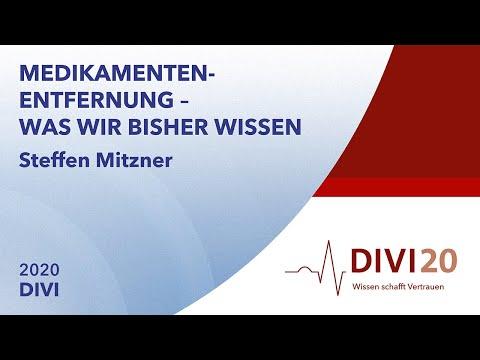 Medikamentenentfernung – was wir bisher wissen | Steffen Mitzner | DIVI 2020