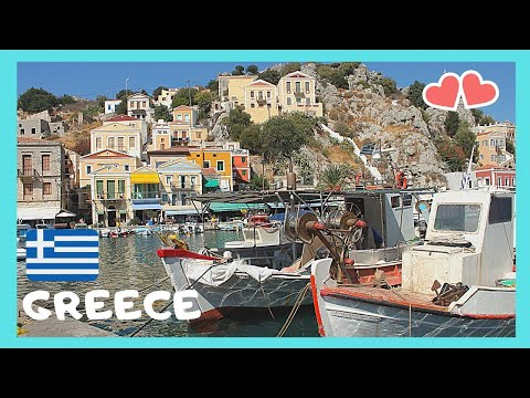 GREECE (island of SYMI, ΣΥΜΗ), COLOURFULL HOUSES & a spectacular HARBOUR