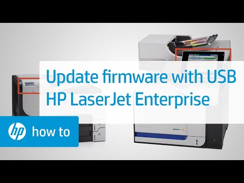 Using a USB Drive to Update the Firmware | HP LaserJet Enterprise Printers | HP