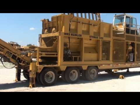 Rome Stomas Mawler Model 3300 Recycling & Waste Reduction Machine - Demo Part 1