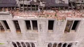 Abandoned places USA City Methodist Church Gary in Drone foota…