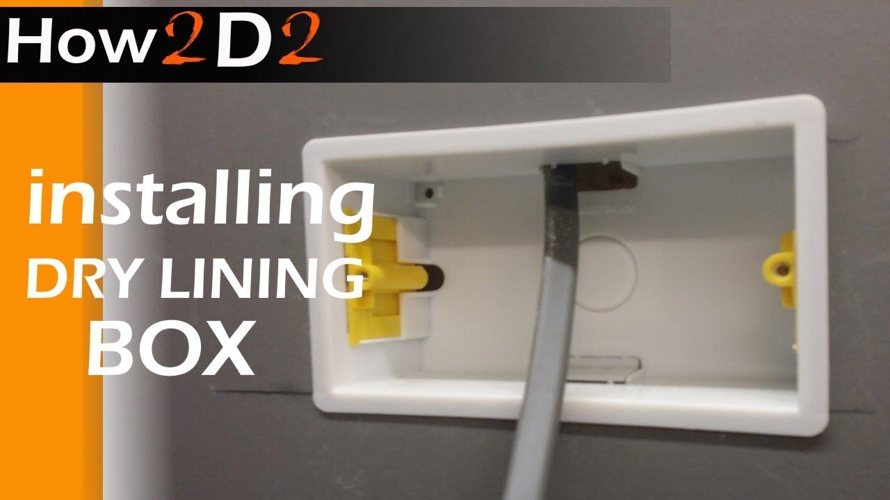 NEW Appleby Dual 35mm Dry Lining Box