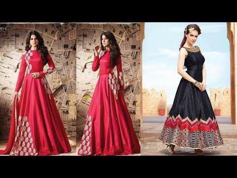 Designer Anarkali suit 2017 / Indian party wear dress